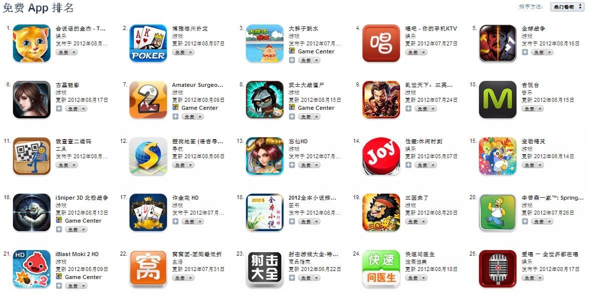 iphone4游戏免费下载